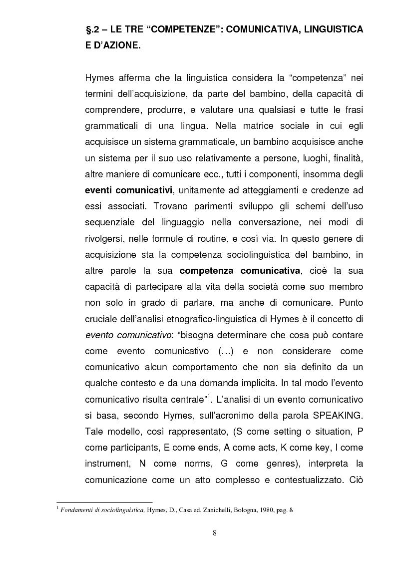 Anteprima della tesi: La valigia comunicativa: costruzione di un bagaglio linguistico e culturale della L2 nella scuola primaria, Pagina 4