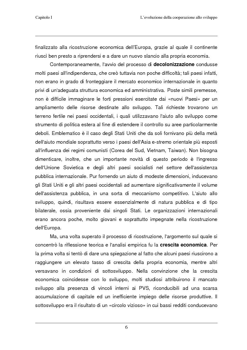 Anteprima della tesi: Classificazione e analisi economico-gestionale di progetti di cooperazione allo sviluppo. Studio di un caso in Tanzania., Pagina 10