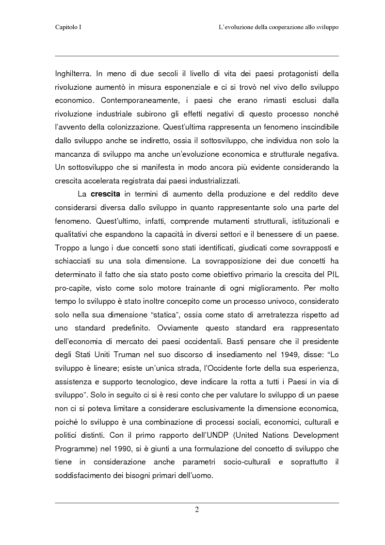 Anteprima della tesi: Classificazione e analisi economico-gestionale di progetti di cooperazione allo sviluppo. Studio di un caso in Tanzania., Pagina 6