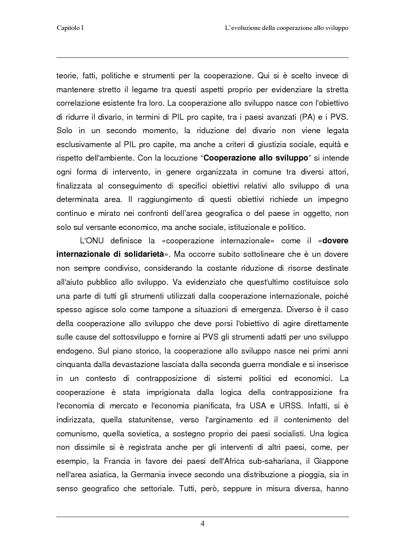Anteprima della tesi: Classificazione e analisi economico-gestionale di progetti di cooperazione allo sviluppo. Studio di un caso in Tanzania., Pagina 8