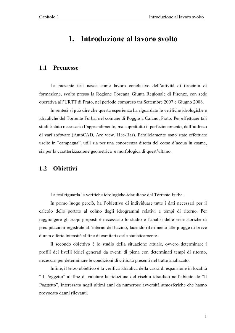 """Studi e verifiche idrologiche-idrauliche del funzionamento della Cassa di espansione in localit� """"Il Poggetto"""" sul Torre..."""