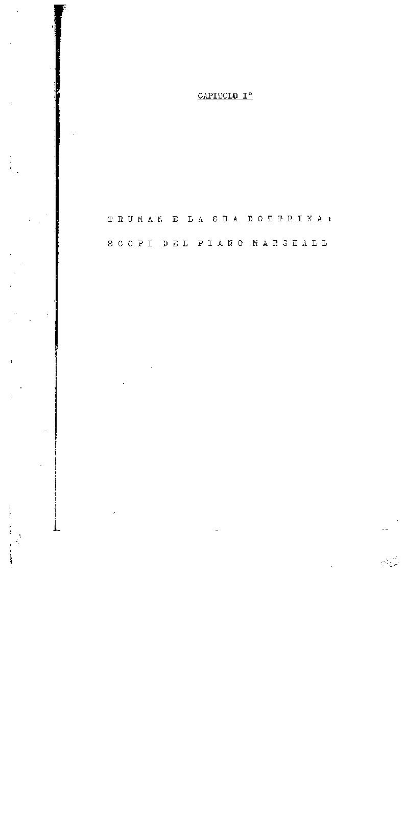 Anteprima della tesi: Il Piano Marshall e i problemi della realtà italiana nel secondo dopoguerra (note e temi di discussione), Pagina 1
