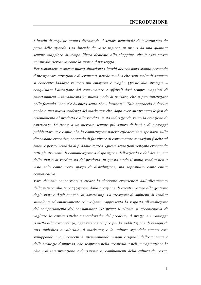Visual merchandising & innovazione nel retailing - Tesi di Laurea