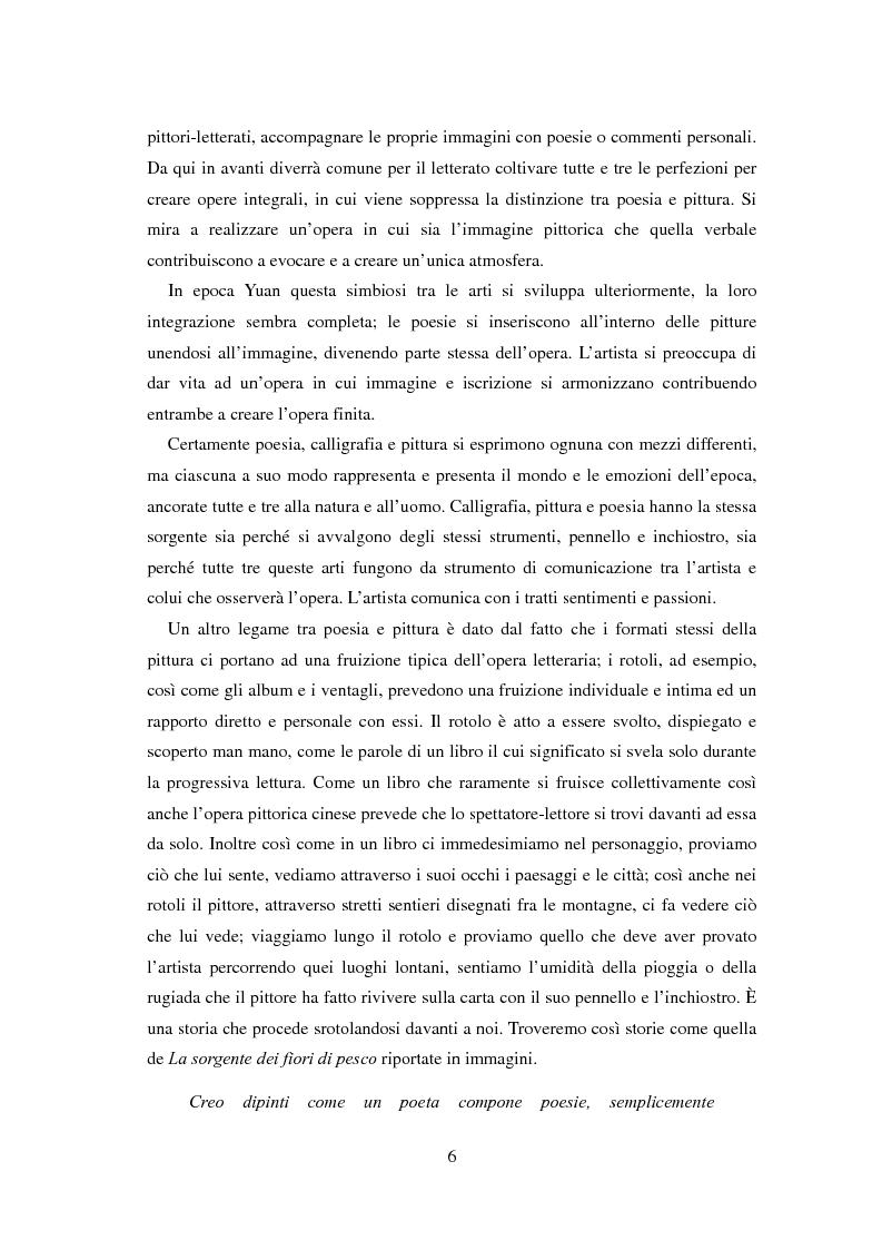 Anteprima della tesi: La sorgente dei fiori di pesco - Alla ricerca di un'utopia tra poesia e pittura, Pagina 4