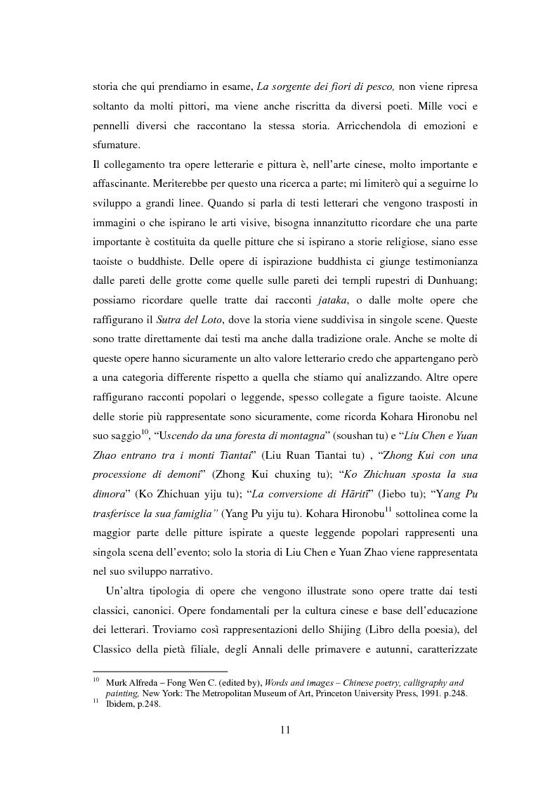 Anteprima della tesi: La sorgente dei fiori di pesco - Alla ricerca di un'utopia tra poesia e pittura, Pagina 9
