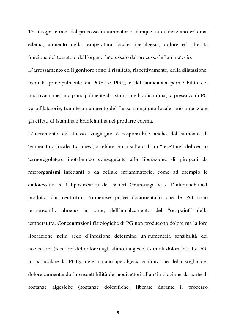 """Anteprima della tesi: Fans, Coxib e Cinods (""""Cox Inhibiting Nitric Oxide Donors""""): presente e futuro della terapia antinfiammatoria, Pagina 3"""