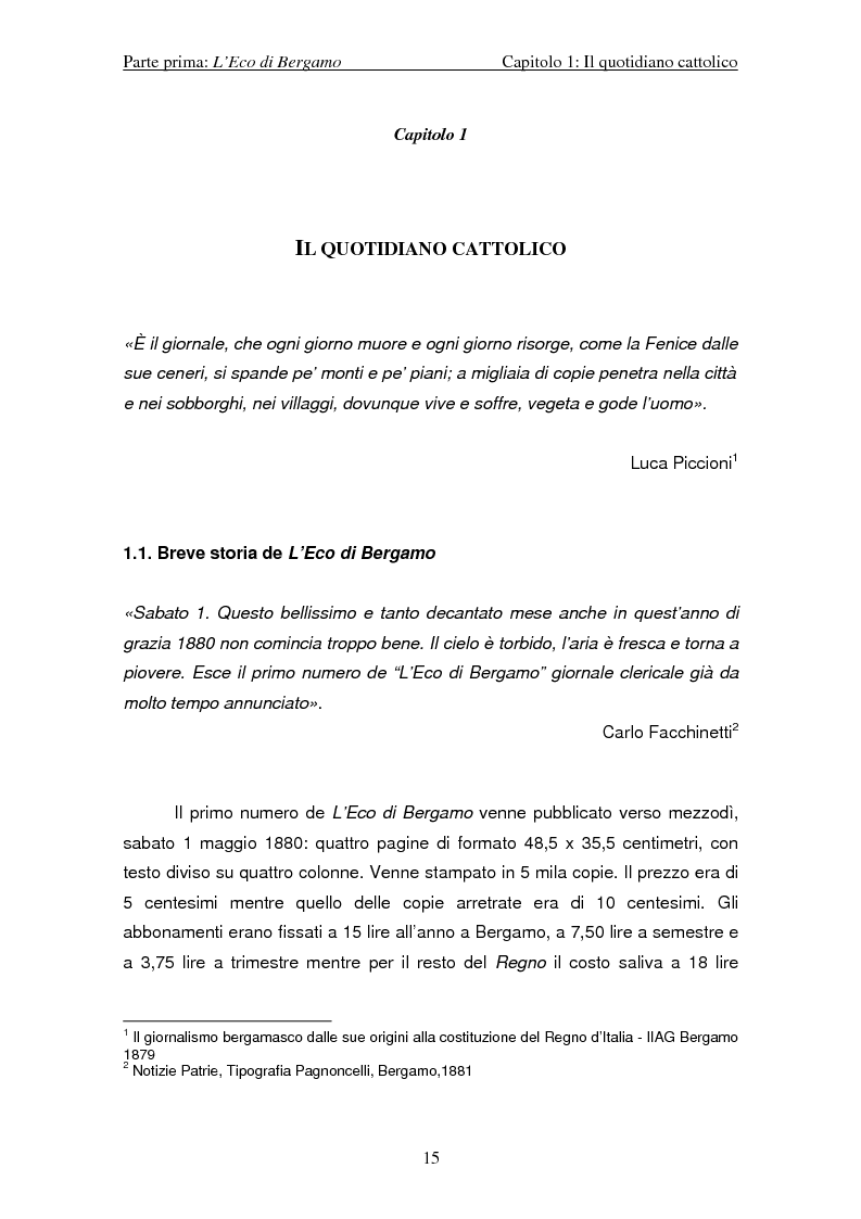 Anteprima della tesi: I Pacs - Lo sguardo di L'Eco di Bergamo, quotidiano cattolico locale, Pagina 7