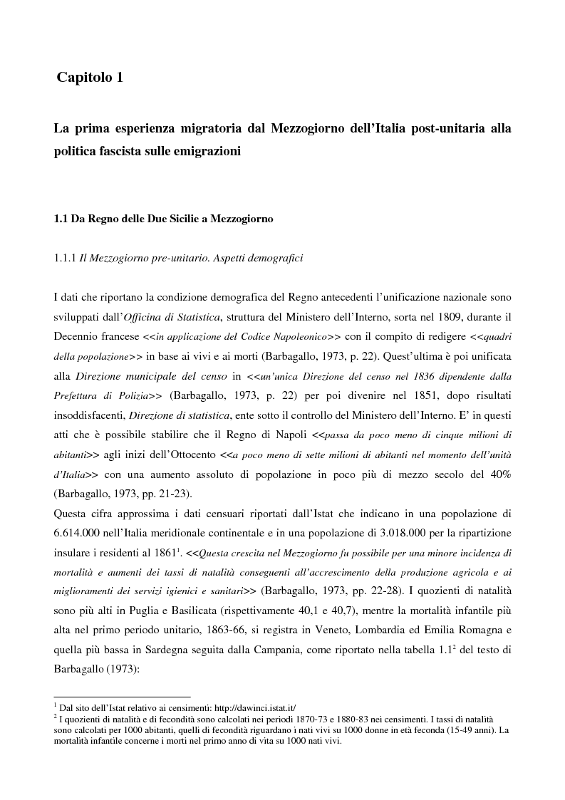 Emigrarono, emigrano. Dall'esodo storico alle attuali tendenze dell'emigrazione meridionale nel Nord Italia. - Tesi di L...