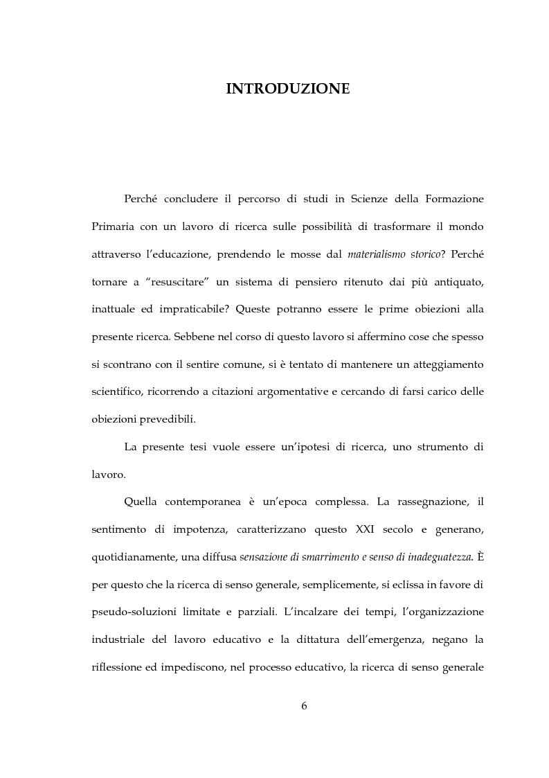Anteprima della tesi: Pratica educativa e trasformazione della realtà, Pagina 1