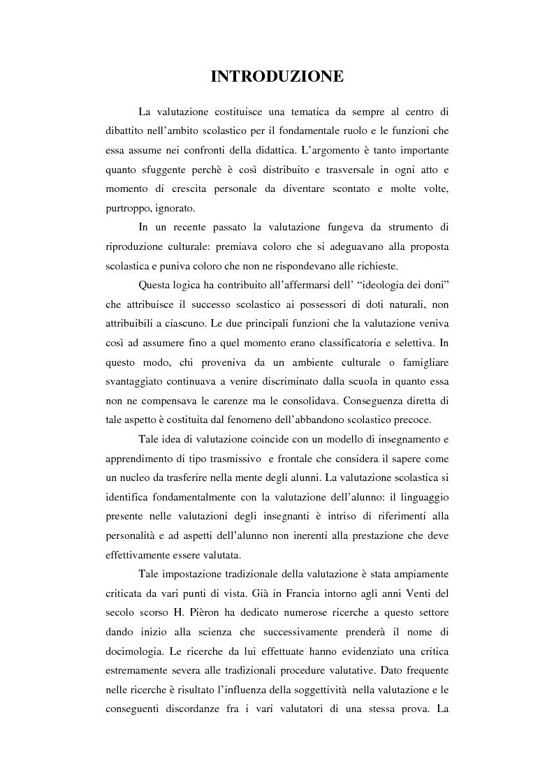 Oltre il giudizio sull'alunno - Esperienze di valutazione in una quinta elementare - Tesi di Laurea