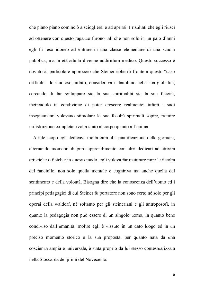 Anteprima della tesi: La pedagogia steineriana, Pagina 3