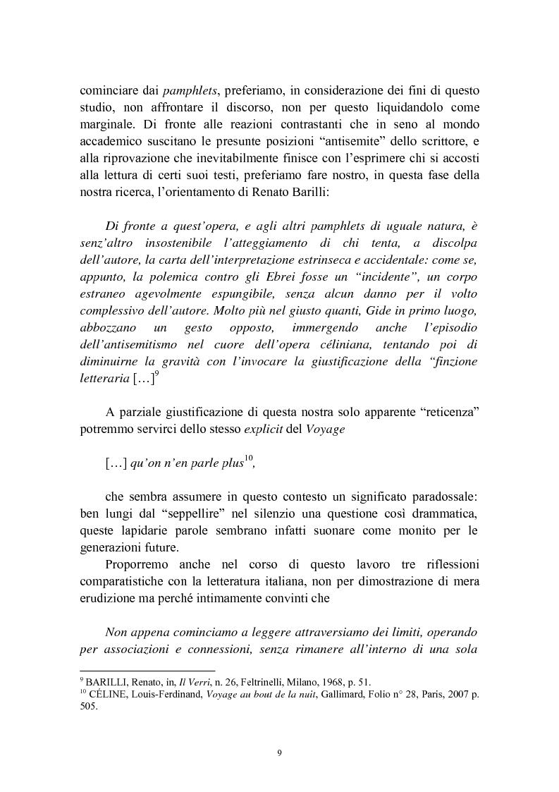 Anteprima della tesi: Bardamu alla grande guerra. Analisi letteraria degli aspetti militari presenti in Voyage au bout de la nuit di Céline., Pagina 6