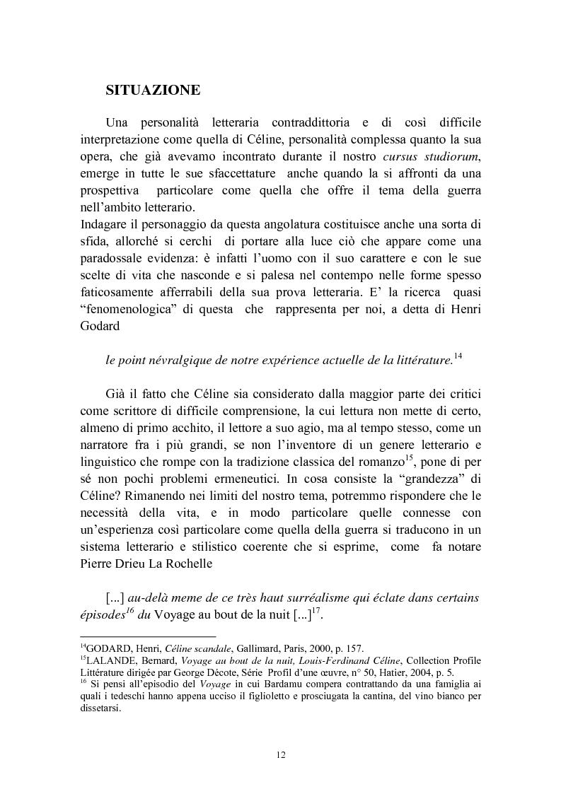 Anteprima della tesi: Bardamu alla grande guerra. Analisi letteraria degli aspetti militari presenti in Voyage au bout de la nuit di Céline., Pagina 9