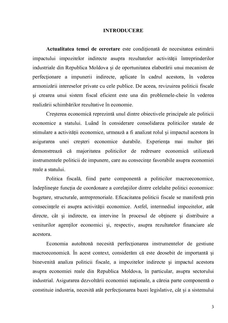 Anteprima della tesi: Impozitele indirecte şi orientările de reformare a acestora in vederea sustinerii activitatii intreprinderilor industriale, Pagina 1