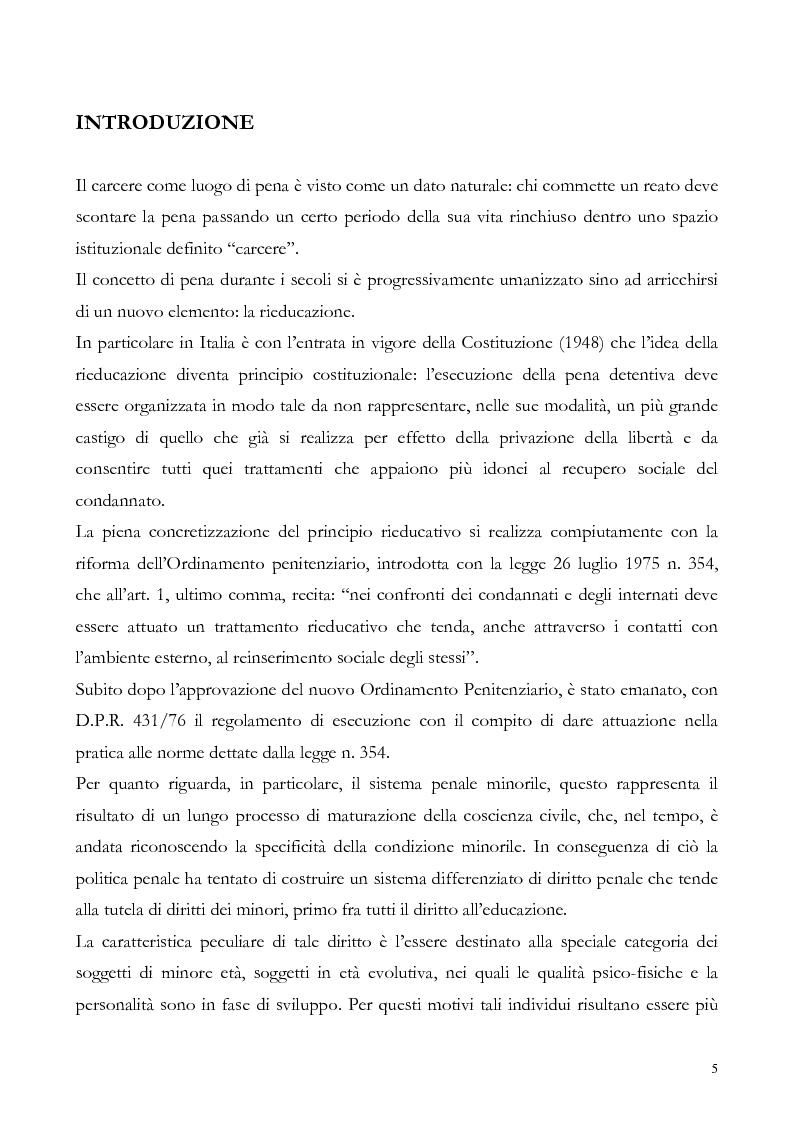 Il minore e il sistema processuale penale - Il ricorso alla carcerazione nel procedimento penale minorile, estrema ratio...