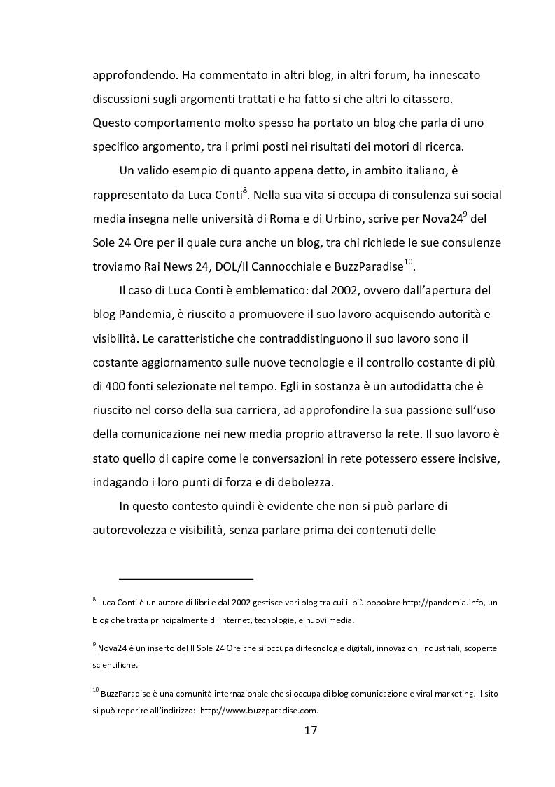 Estratto dalla tesi: Il Web 2.0: social media e corporate blog al servizio delle aziende