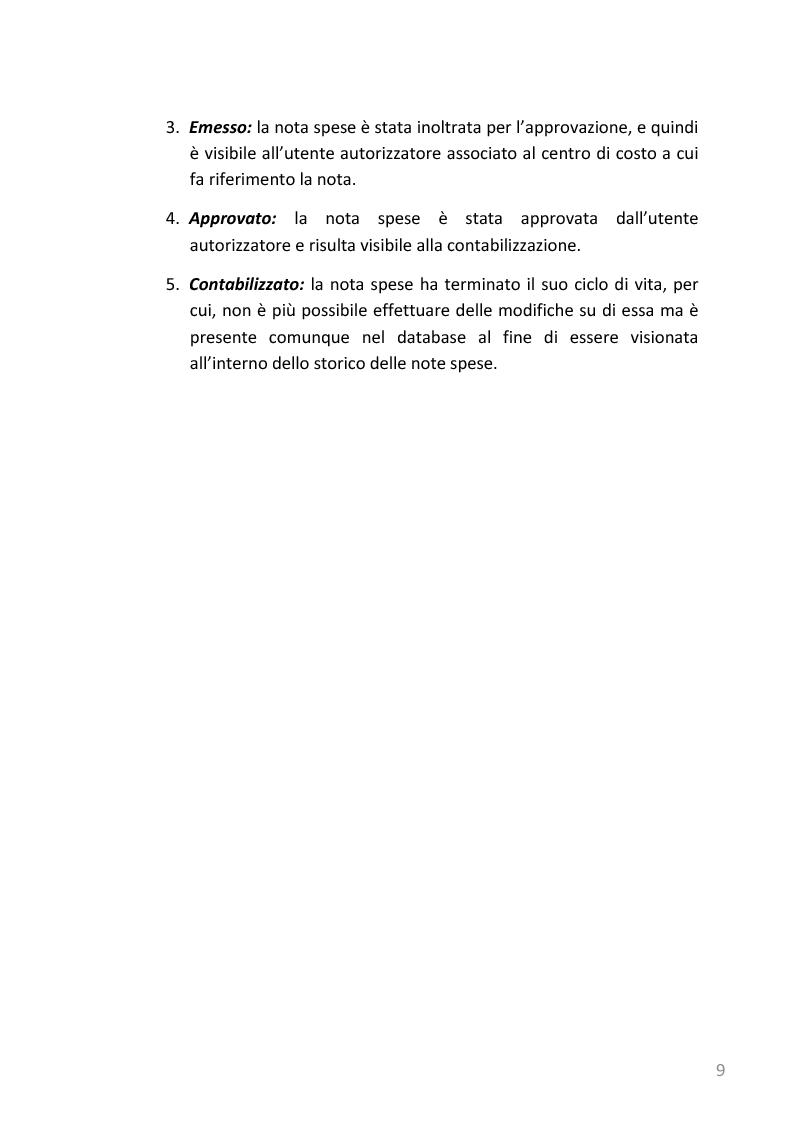 Anteprima della tesi: Refactoring e templating web di un'applicazione web di gestione note spese basata su J2EE, Pagina 6