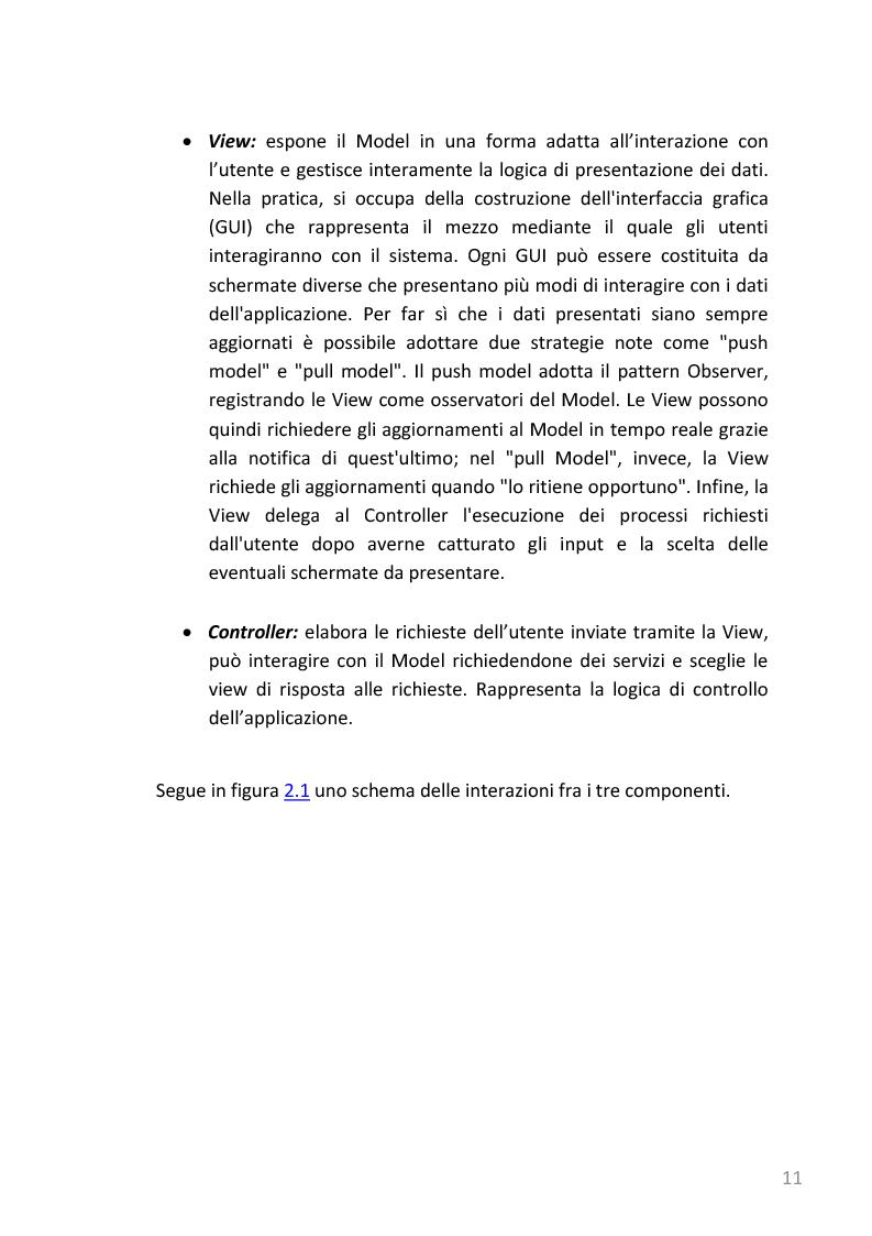 Anteprima della tesi: Refactoring e templating web di un'applicazione web di gestione note spese basata su J2EE, Pagina 8