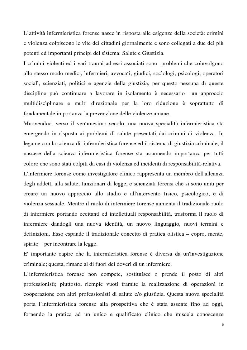 Anteprima della tesi: L'infermiere forense nell'assistenza alle donne vittime di violenza sessuale, Pagina 4