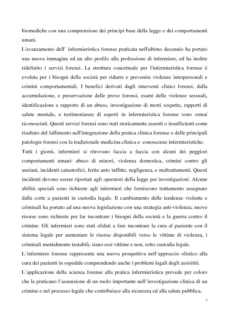 Anteprima della tesi: L'infermiere forense nell'assistenza alle donne vittime di violenza sessuale, Pagina 5