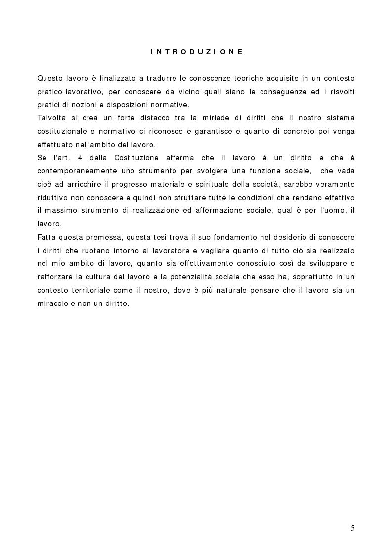 Anteprima della tesi: La libertà sindacale nel sistema delle libertà costituzionali e il diritto di sciopero, Pagina 1