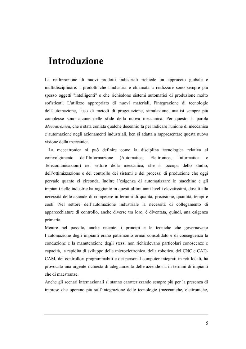 Anteprima della tesi: RTARM: una architettura in tempo reale, scalabile e ad alta affidabilità per la robotica e la meccatronica, Pagina 1