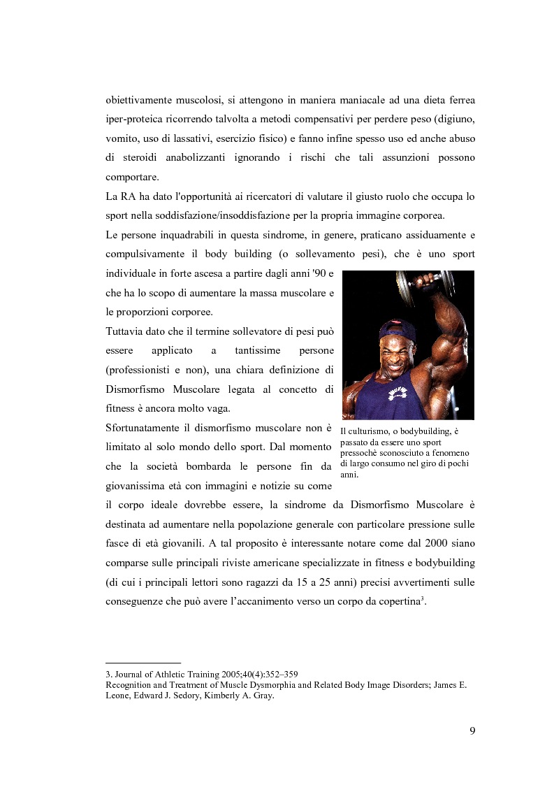 Estratto dalla tesi: Il corpo perfetto: un approccio pragmatico al disturbo da dismorfismo muscolare