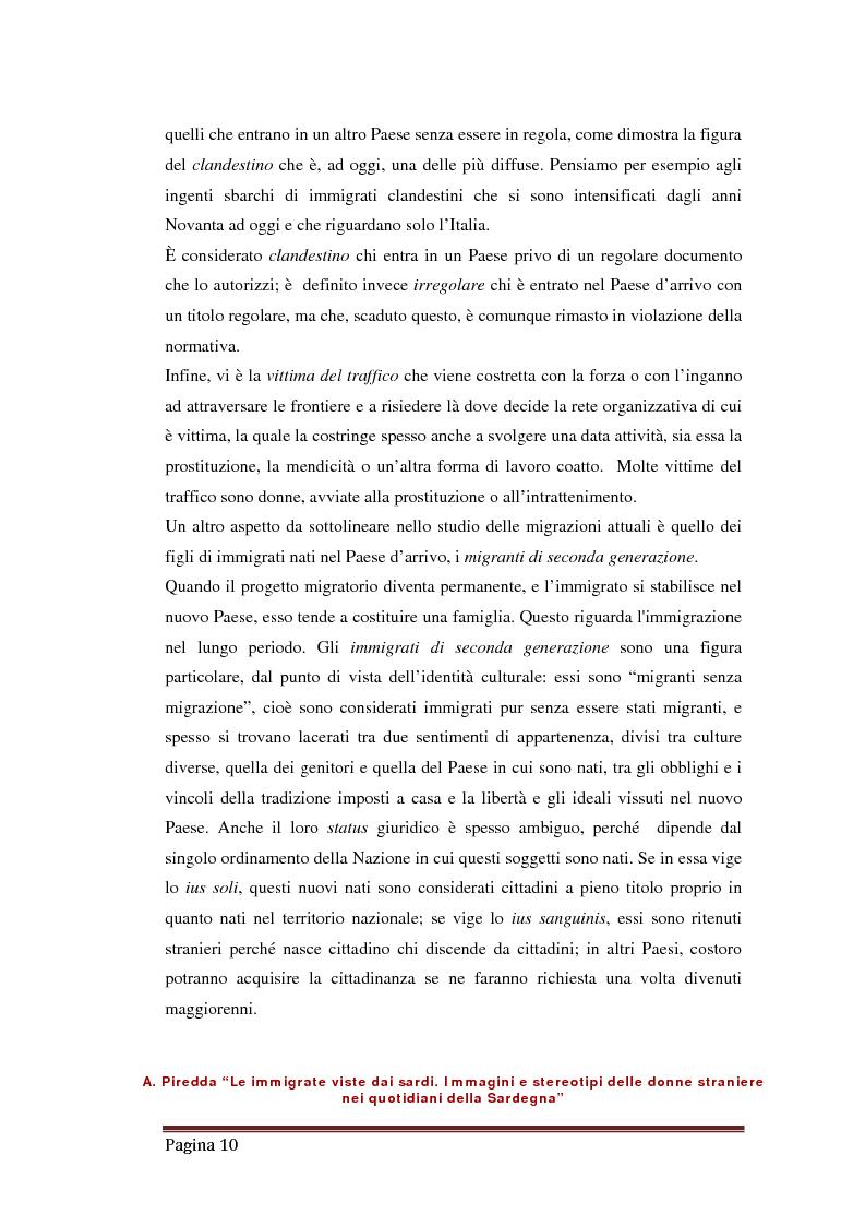 Estratto dalla tesi: Le immigrate viste dai sardi. Immagini e stereotipi delle donne straniere nei quotidiani della Sardegna