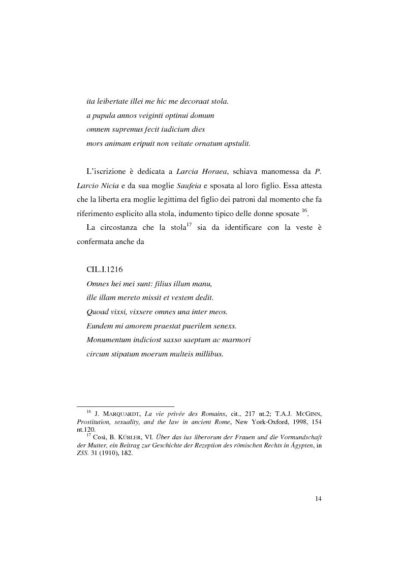 Anteprima della tesi: Matrimonio e concubinato della liberta, Pagina 10