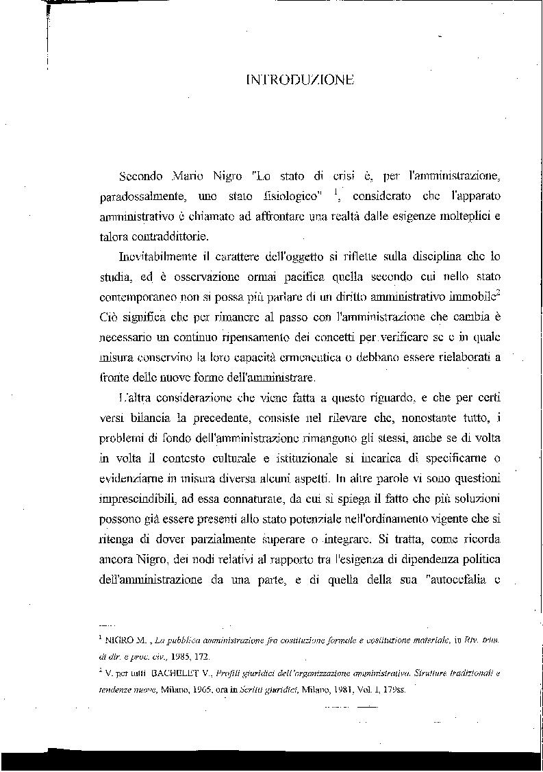 Esercizio delle funzioni pubbliche da parte di ''autorit� indipendenti'' - Tesi di Laurea