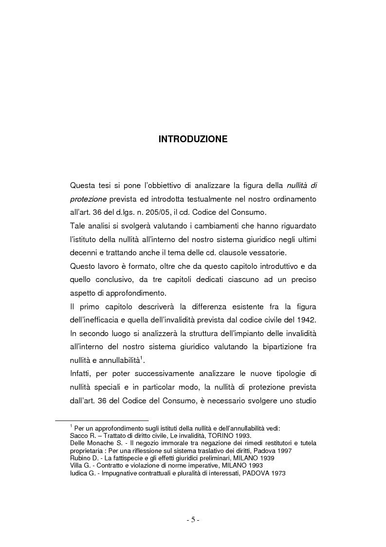 Anteprima della tesi: La nullità di protezione e le clausole abusive nei contratti dei consumatori, Pagina 1