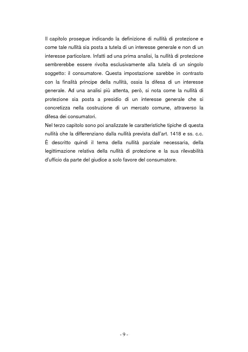 Anteprima della tesi: La nullità di protezione e le clausole abusive nei contratti dei consumatori, Pagina 5