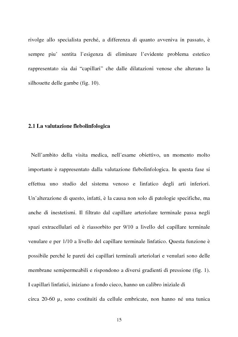 Anteprima della tesi: L'idroterapia carbogassosa quale complemento riabilitativo nel trattamento Laser dell' insufficienza venosa superficiale (EVLT). Presentazione di una casistica clinica., Pagina 10