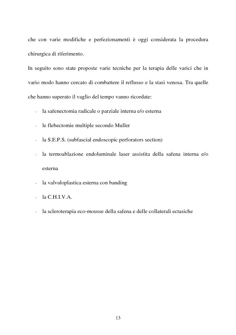 Anteprima della tesi: L'idroterapia carbogassosa quale complemento riabilitativo nel trattamento Laser dell' insufficienza venosa superficiale (EVLT). Presentazione di una casistica clinica., Pagina 8