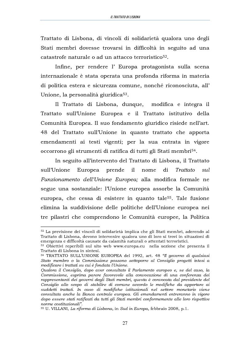 Estratto dalla tesi: Il trattato di Lisbona