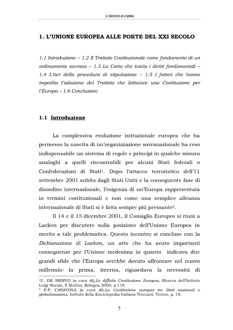 Anteprima della tesi: Il trattato di Lisbona, Pagina 3