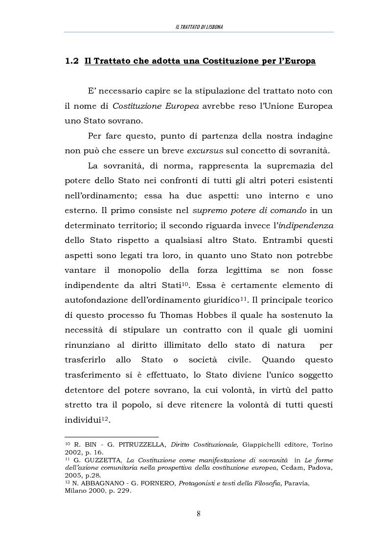 Anteprima della tesi: Il trattato di Lisbona, Pagina 6