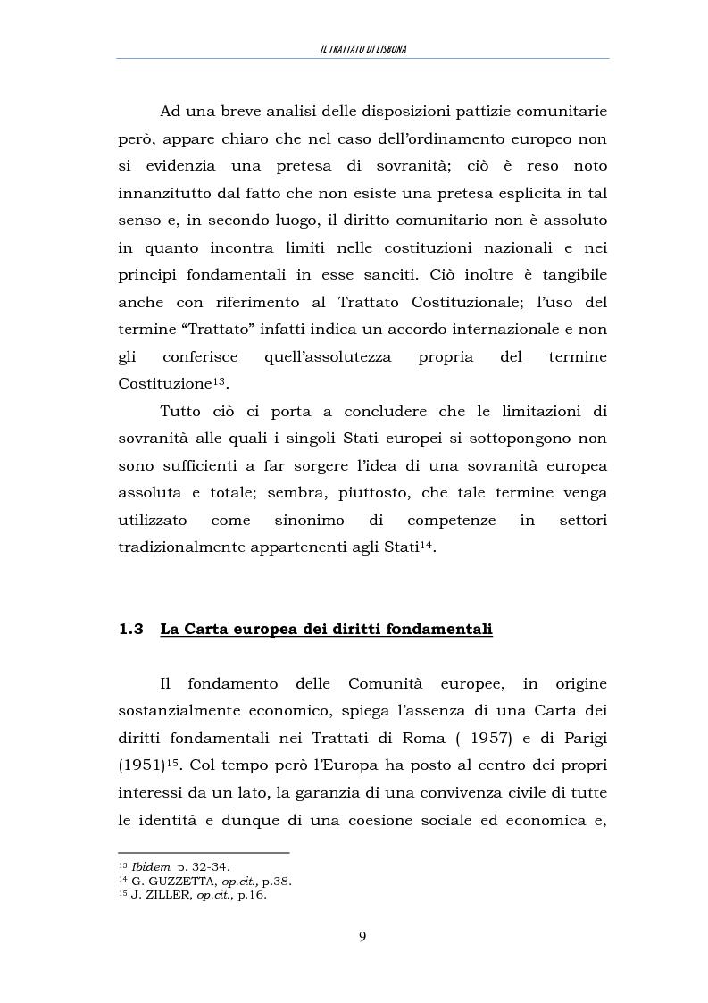 Anteprima della tesi: Il trattato di Lisbona, Pagina 7