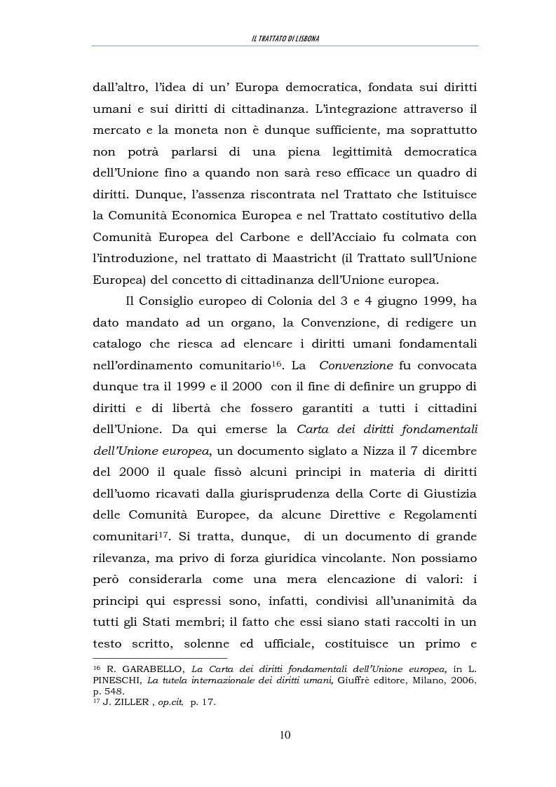 Anteprima della tesi: Il trattato di Lisbona, Pagina 8
