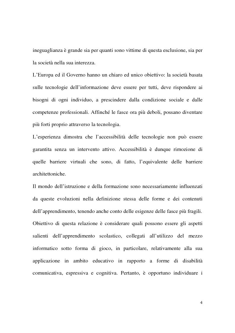 Anteprima della tesi: Il gioco informatico nel processo educativo dei bambini diversamente abili, Pagina 2