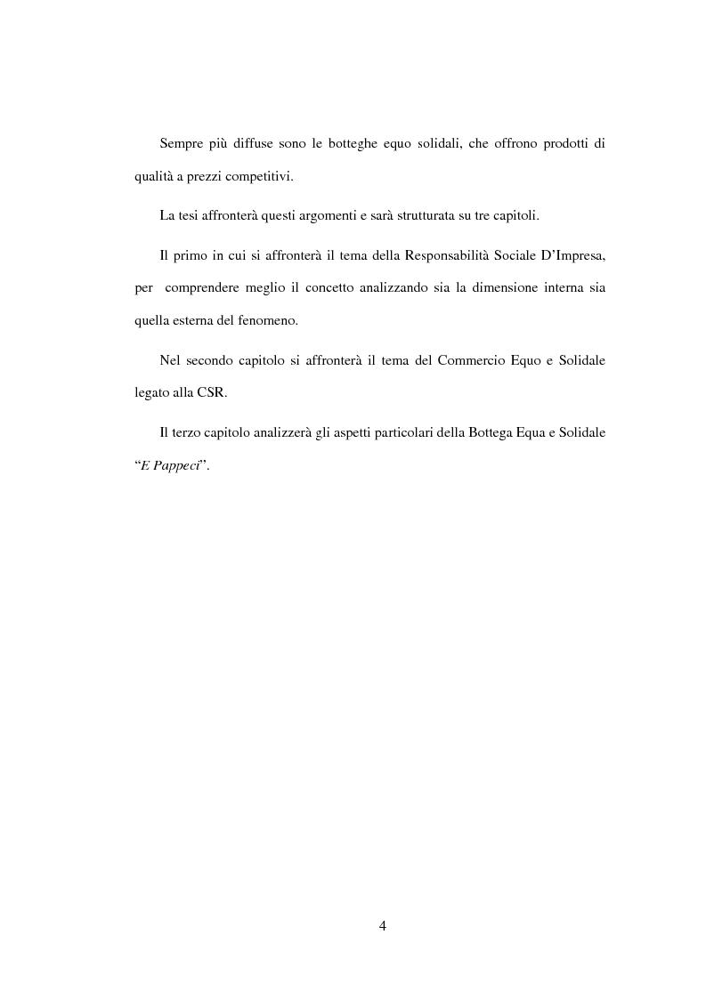 Anteprima della tesi: Il commercio equo e solidale come espressione di responsabilità sociale d'impresa - Il caso della bottega ''E Pappeci'', Pagina 2