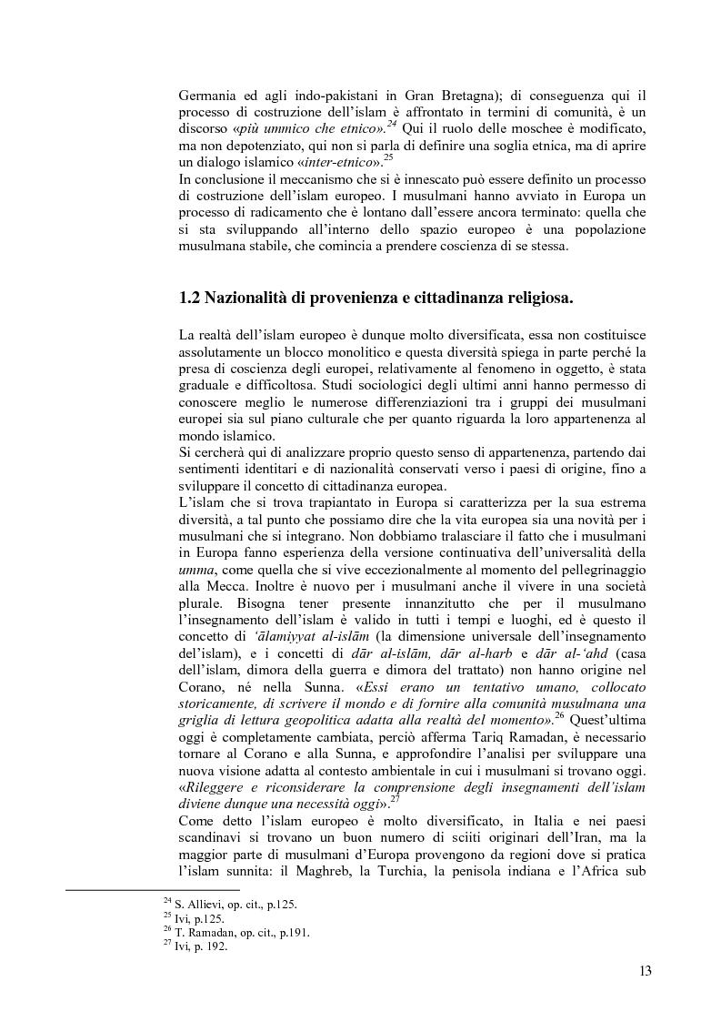 Anteprima della tesi: L'Islam in Europa - Il caso del Belgio, Pagina 10