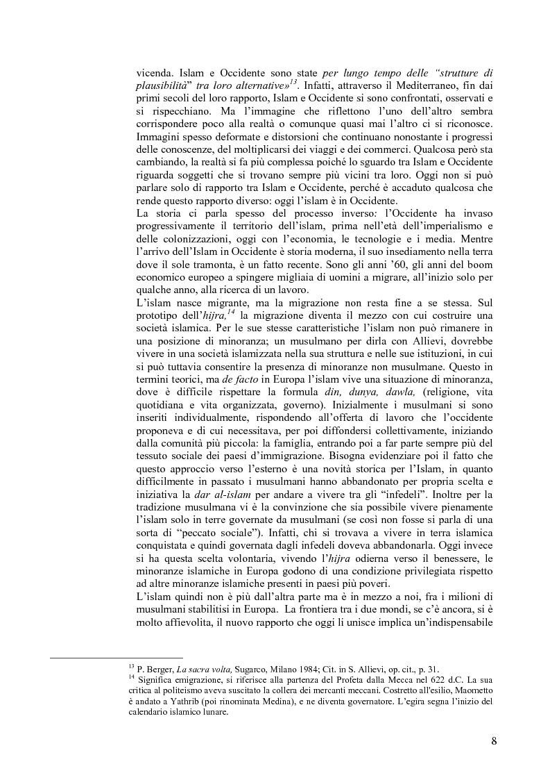 Anteprima della tesi: L'Islam in Europa - Il caso del Belgio, Pagina 5