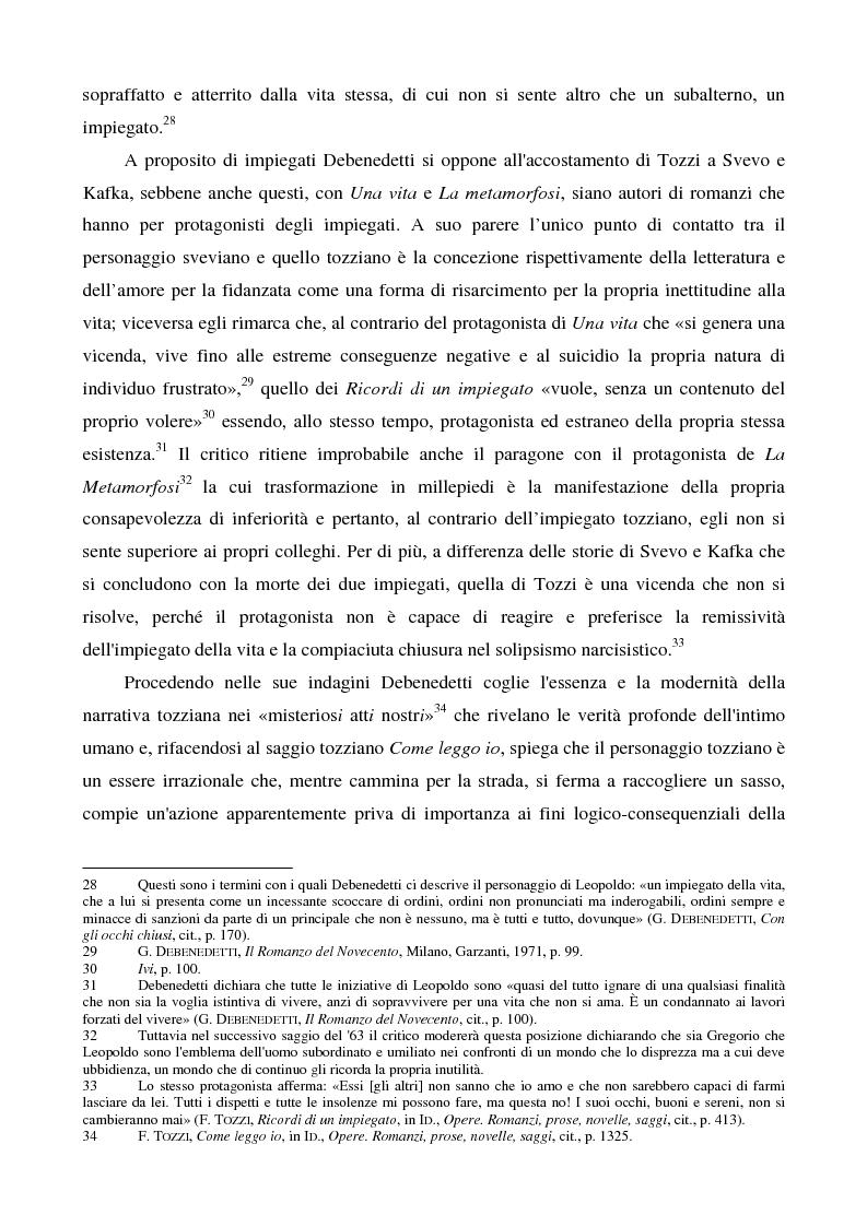 Anteprima della tesi: Letture psicanalitiche della narrativa di Tozzi, Pagina 10