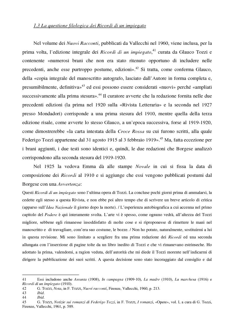Anteprima della tesi: Letture psicanalitiche della narrativa di Tozzi, Pagina 13