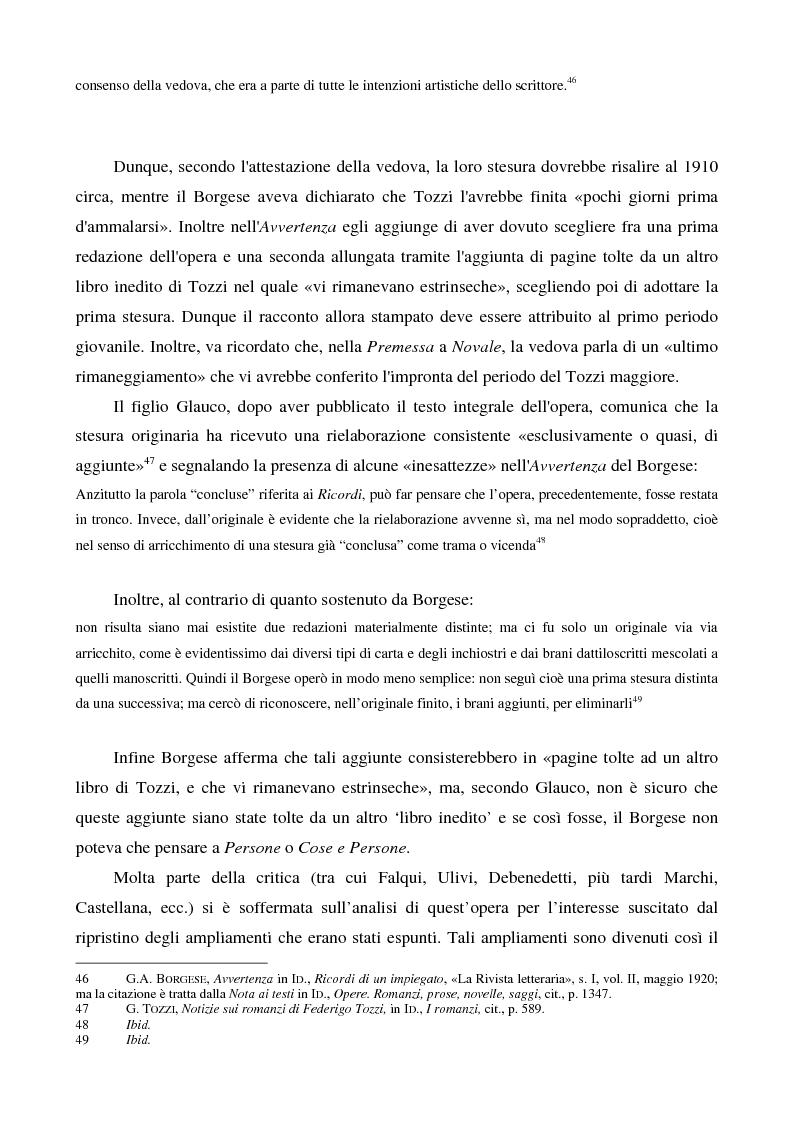 Anteprima della tesi: Letture psicanalitiche della narrativa di Tozzi, Pagina 14