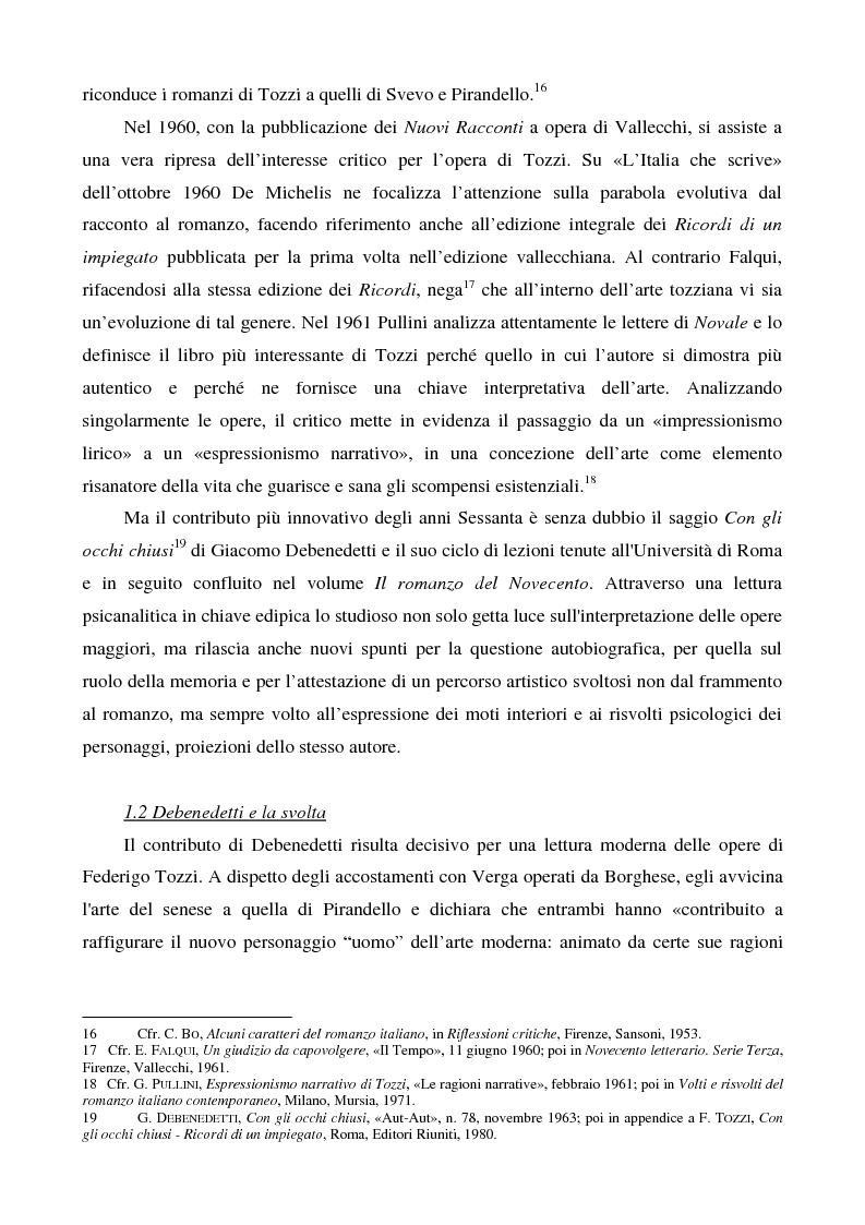 Anteprima della tesi: Letture psicanalitiche della narrativa di Tozzi, Pagina 8