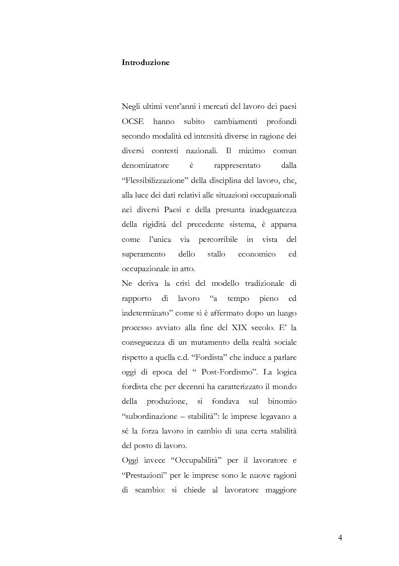 Anteprima della tesi: Ammortizzatori sociali e tutela del lavoro precario, Pagina 1