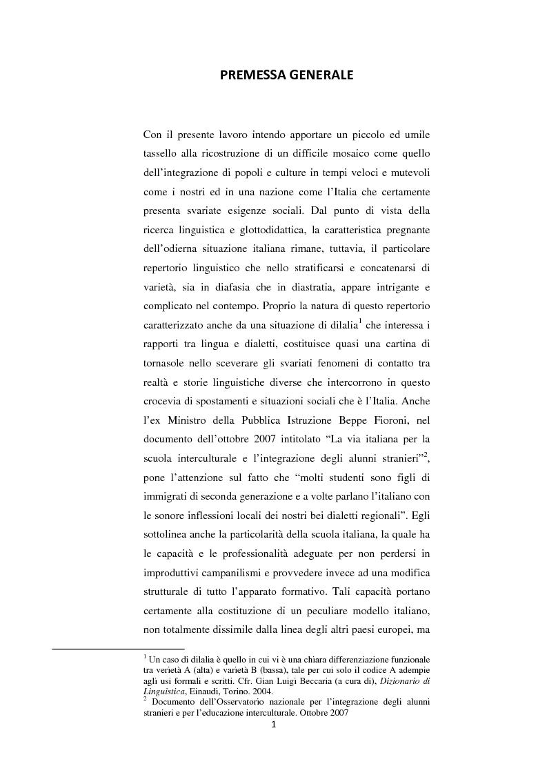 Anteprima della tesi: Dall'Interlingua all'Intercultura: un percorso linguistico tra le esigenze sociali, Pagina 1