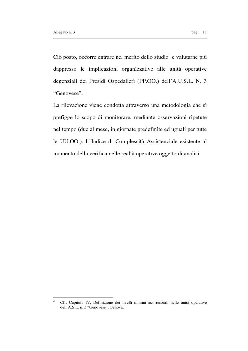 Anteprima della tesi: Costruzione di un sistema informativo atto al monitoraggio dell'indice di complessità assistenziale infermieristica ai fini della determinazione dei livelli minimi assistenziali (Basic care), Pagina 11